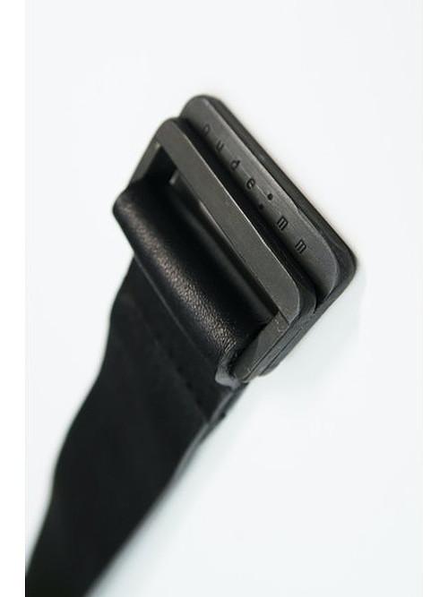 (予約品)1〜2月入荷予定/nude:masahiko maruyama ・ヌード:マサヒコマルヤマ/Cow Leather Leather Belt-BLK