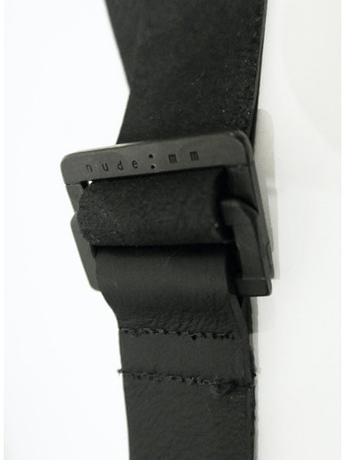 nude:masahiko maruyama ・ヌード:マサヒコマルヤマ/Cow Leather Leather Belt-BLK