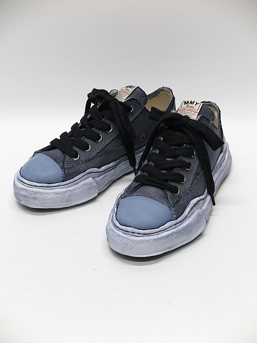 MIHARA YASUHIRO・ミハラヤスヒロ/PETERSON low - original sole over dyed low-cut sn/BLK
