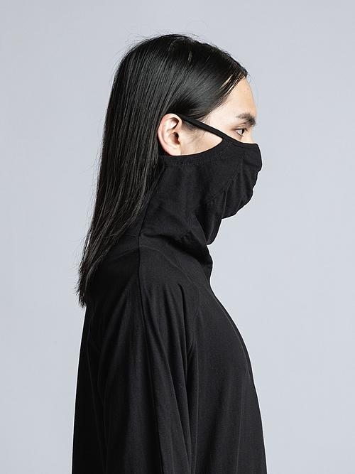 The Viridi-anne・ザ ヴィリディアン/40/- 天竺  マスク 長袖 T/BLK.