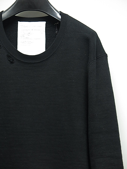 (予約品)7〜8月入荷予定/nude:masahiko maruyama ・ヌード:マサヒコマルヤマ/Garment Dyeing Pullover/Black
