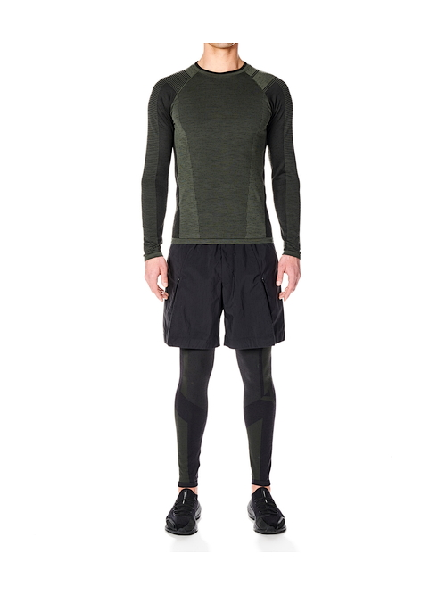 Y-3・ワイスリー/M CLASSIC KNITTED BASE LAYER LS TEE/SHADOW GREEN BLACK