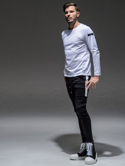 (予約品)8月入荷/RESOUND CLOTHING・リサウンドクロージング/super tight taperd SLASH LINE PT/BLACK