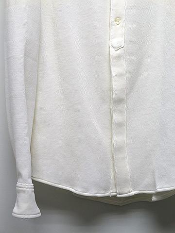 SALE60%OFF/ripvanwinkle(リップヴァンウィンクル)ハニカムSTカノコFAKE P/O SHIRT・ホワイト.