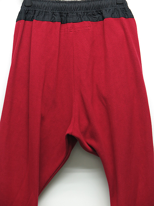 SALE50%OFF/NIL/S・ニルズ/MICRO FLEECE COMBINATION TRACK PANTS・RED.