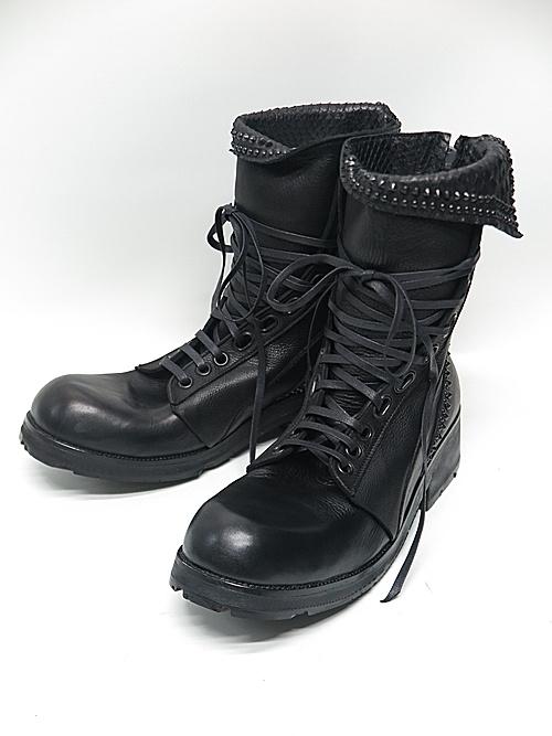 KMRii・ケムリ/Crush Chrome Boots 03/BLACK