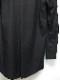Yohji Yamamoto・ヨウジヤマモト/環縫いブロードA-ロングカラー環縫いシャツ・ブラック.