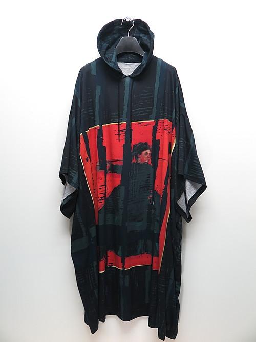 Ground Y・グラウンドワイ/Degas pt A Jje 3/4 sleeve long hoodie/ORANGE.