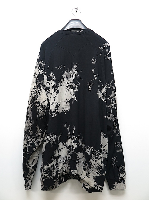 KMRii・ケムリ/Bamboo Spandex Tie Dye Bamboo Pullover/BLACK