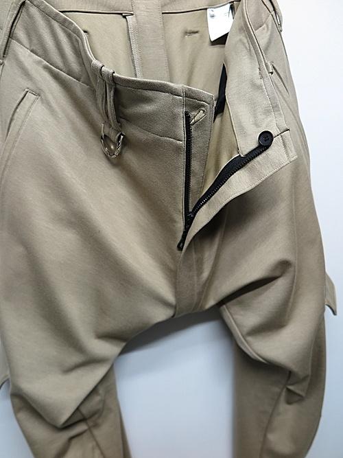 kiryuyrik・キリュウキリュウ/Ponch Saruel Cargo Pants/Beige