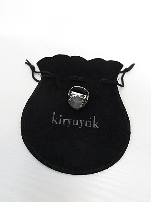 kiryuyrik・キリュウキリュウ/シルバー925&オニキスリング・シルバーcryst