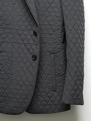 SALE60%OFF/SUMRUFF(サムラフ)キルトタッサー2Bジャケット・チャコールグレー.