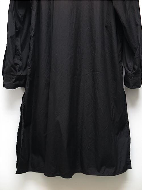 SALE30%OFF/Yohji Yamamoto・ヨウジヤマモト/環縫いブロードA-Fファスナー付環縫いシャツ・ブラック.