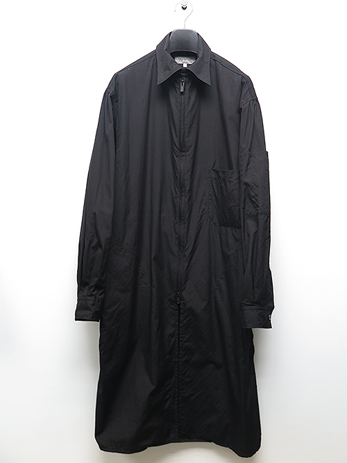 Yohji Yamamoto・ヨウジヤマモト/環縫いブロードA-Fファスナー付環縫いシャツ・ブラック.