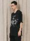 """(予約品)2〜3月入荷/nude:masahiko maruyama ・ヌード:マサヒコマルヤマ/DISTORTION3 """"RYOYA NISHIMOTO"""" PRINT OVERSIZED T SHIRT/Black"""