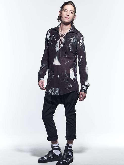 (予約品)3月入荷予定/kiryuyrik・キリュウキリュウ/Hi Tenssion Jersey Saruel Curve Bondage Pants/Black
