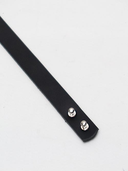 Ground Y・グラウンドワイ・Cow hide Plate leather bracelet/シルバー