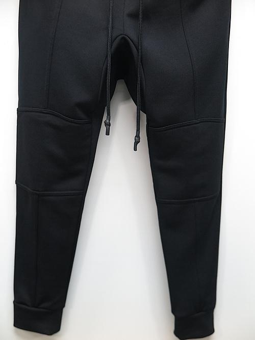 RIPVANWINKLE・リップヴァンウィンクル/キャノンループ裏毛 MOTORCYCLE JERSEY PANTS/ブラック