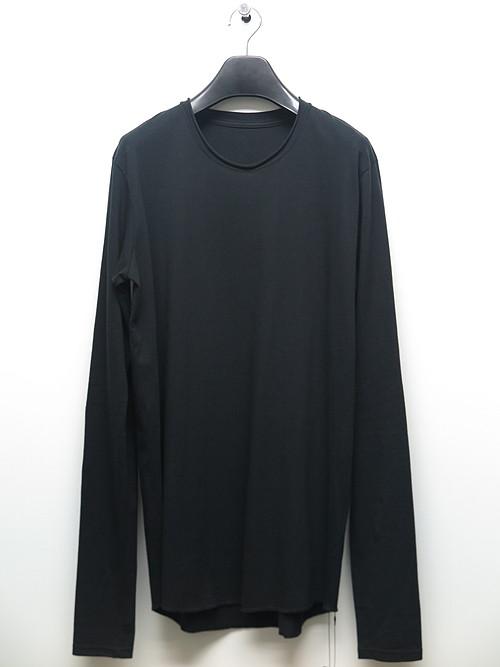 (予約品)1〜2月入荷予定/nude:masahiko maruyama ・ヌード:マサヒコマルヤマ/Cotton Jersey Long Sleeve T shirt/BLK