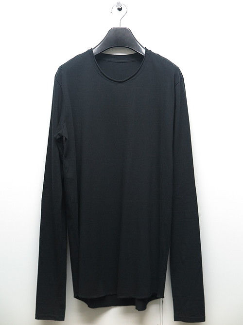 nude:masahiko maruyama ・ヌード:マサヒコマルヤマ/Cotton Jersey Long Sleeve T shirt/BLK