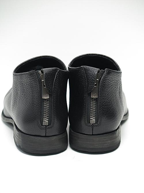 Portaille・ポルタユ/lbackzip slipon Italian vachetta  (牛革): Black