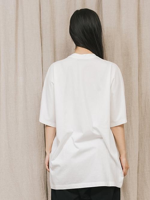 """(予約品)2〜3月入荷/nude:masahiko maruyama ・ヌード:マサヒコマルヤマ/DISTORTION3 """"RYOYA NISHIMOTO"""" PRINT OVERSIZED T SHIRT/Off White"""
