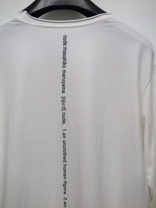 nude:masahiko maruyama ・ヌード:マサヒコマルヤマ/Cotton Jersey Long Sleeve T shirt/WHT