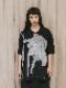 """(予約品)2〜3月入荷/nude:masahiko maruyama ・ヌード:マサヒコマルヤマ/DISTORTION3 """"HIROYA OHJI"""" PRINT OVERSIZED T SHIRT/Black"""