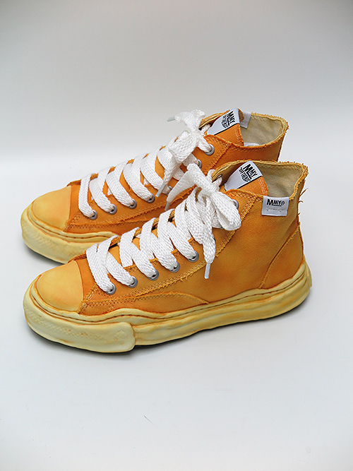 MIHARAYASUHIRO・ミハラヤスヒロ original sole overdie hitop sneaker Yellow
