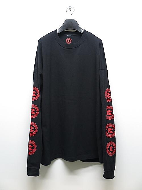 Moonage Devilment・ムーンエイジデビルメント/sads collaboration GRAPHIC OVER L/S T-shirt type D/BKRED.