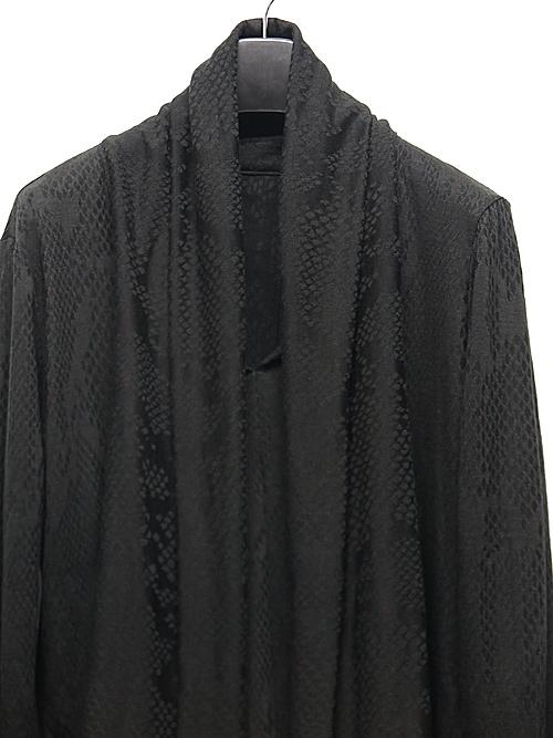 kiryuyrik・キリュウキリュウ/Python JQD-Jersey Stoal Cardigane/Black