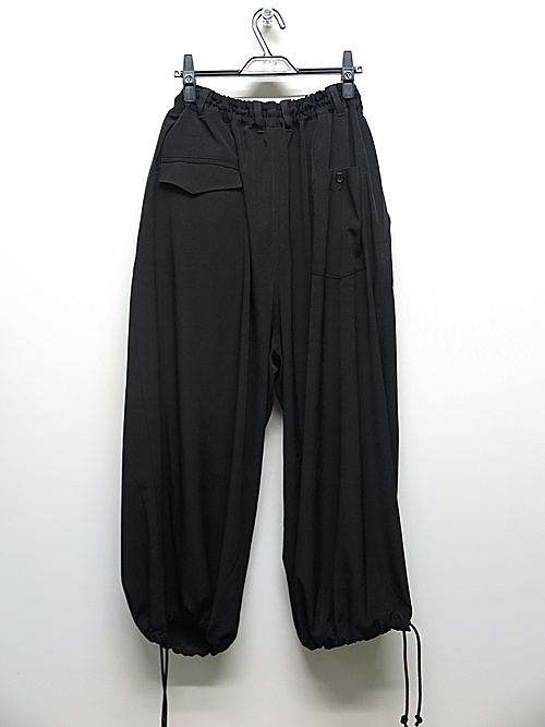 Ground Y・グラウンドワイ/T/A vintage decyne Easy balloon pants/BLK