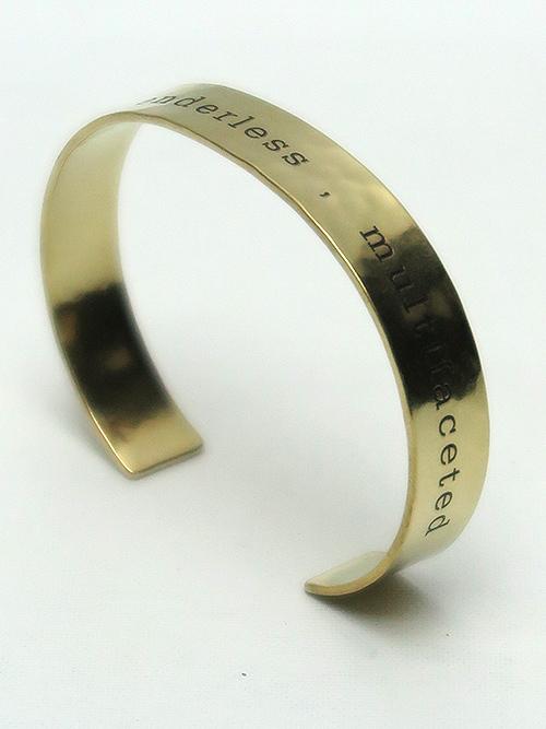 Ground Y・グラウンドワイ・brass Plate Bangle/ゴールド