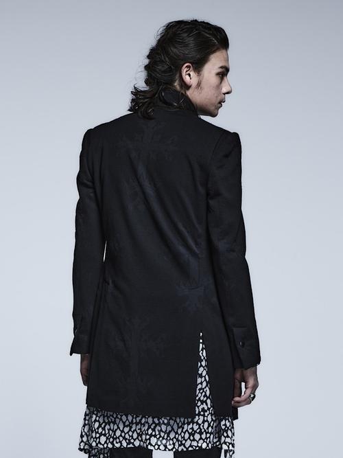 (予約品)1月入荷予定/kiryuyrik・キリュウキリュウ/Victorian JQD Stand Collar Jacket/Black