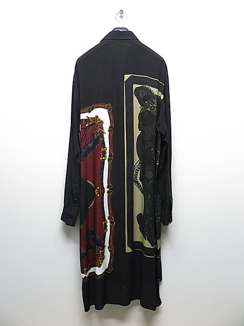 Ground Y・グラウンドワイ/Rayon Bandana patt Collar zipper shirt/RED