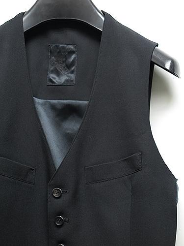 KiryuyriK・キリュウキリュウ/Gabadine Stretch Vest/Black.