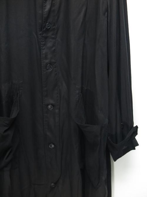 Yohji Yamamoto・ヨウジヤマモト/200+201 M-ロングブラウス・ブラック.