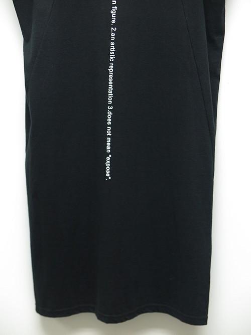 (予約品)1〜2月入荷予定/nude:masahiko maruyama ・ヌード:マサヒコマルヤマ/Cotton Jersey Tank Top/BLK