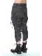 D.HYGEN・ディーハイゲン/リネン×ラミー×ウールワッシャータックテーパードパンツ/BLACK