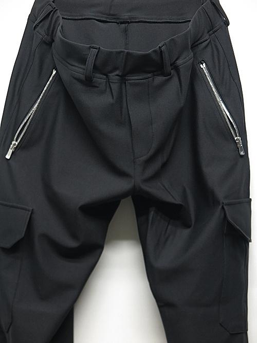RESOUND CLOTHING・リサウンドクロージング/super tight taperd LIVE cargo PT/BLACK