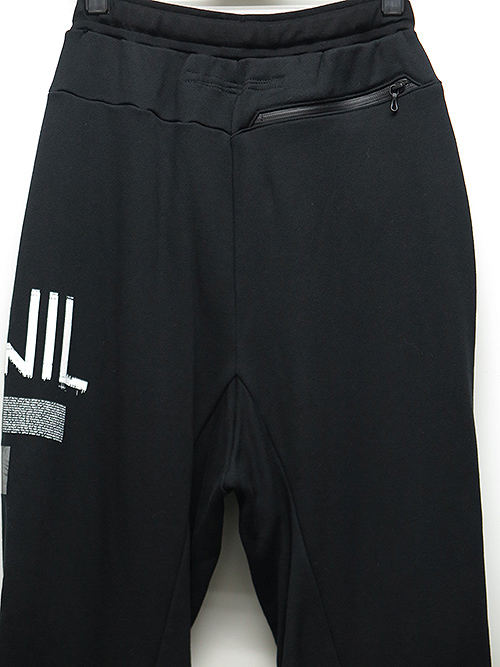 SALE40%OFF/NIL/S・ニルズ/COTTON SWEAT NIL WIDE TRACK PANTS・BLACK.