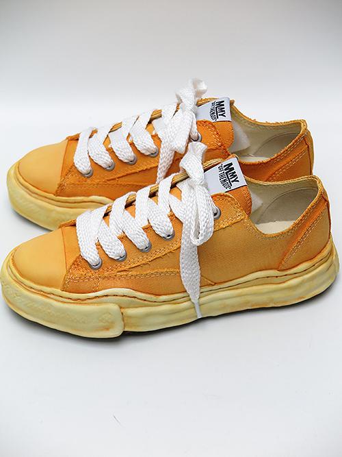 MIHARAYASUHIRO・ミハラヤスヒロ ooriginal sole overdie lowcut sneaker Yellow