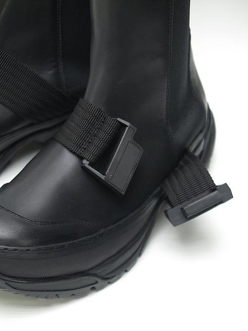 RIPVANWINKLE・リップヴァンウィンクル/スムースレザー TACTICAL BOOTIE/ブラック.