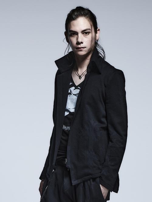 (予約品)1月入荷予定/kiryuyrik・キリュウキリュウ/Victorian JQD High Collar Short Jacket/Black