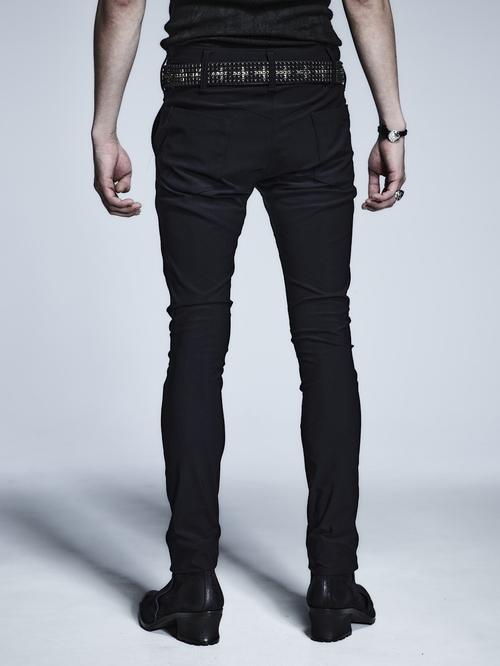 (予約品)4月入荷予定/kiryuyrik・キリュウキリュウ/High Tension Jersey Super Skinny Slacks/Black