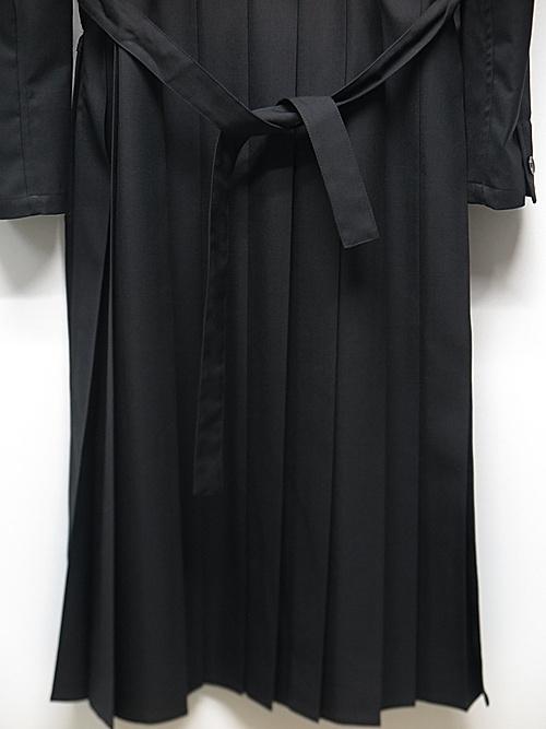 Ground Y・グラウンドワイ/T/W gabardine Back pleated long Shirt/BLK