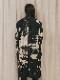 """(予約品)2〜3月入荷/nude:masahiko maruyama ・ヌード:マサヒコマルヤマ/DISTORTION3 """"RYOYA NISHIMOTO"""" DISCHARGE PRINT LONG JACKET/Black"""