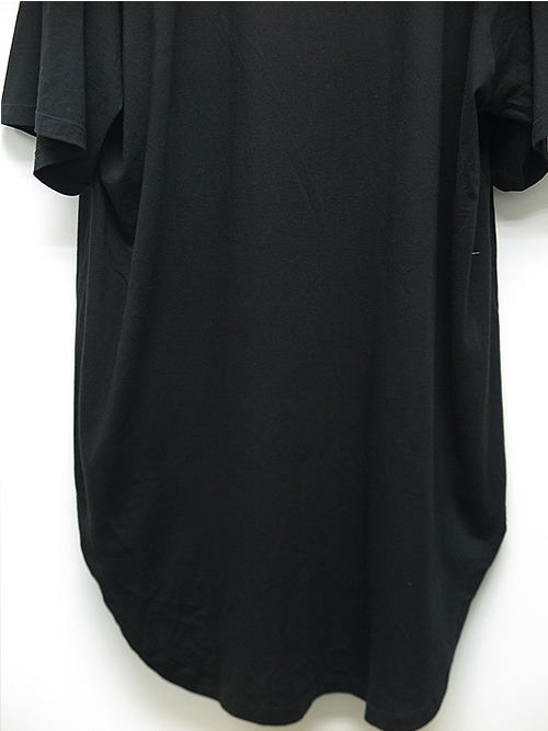 JULIUS・ユリウス/CO/RY JERSEY EMBROIDERED OVERSIZE T-SHIRT/BLACK