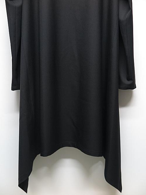 Ground Y・グラウンドワイ/T/W gabardine Long drape jacket/BLK