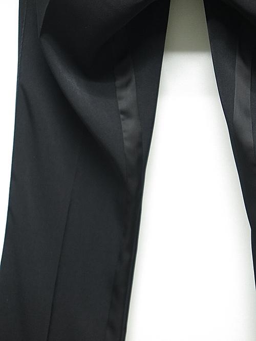 (予約品)4月入荷予定/kiryuyrik・キリュウキリュウ/Suede+Satin Flare Slacks/Black